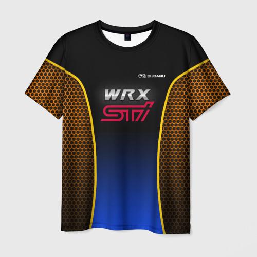 Мужская футболка 3D Subaru WRX STI