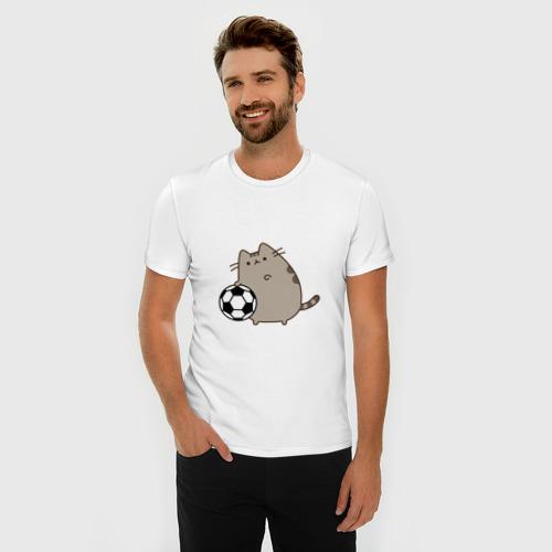 Мужская футболка премиум  Фото 03, Pusheen Футболист