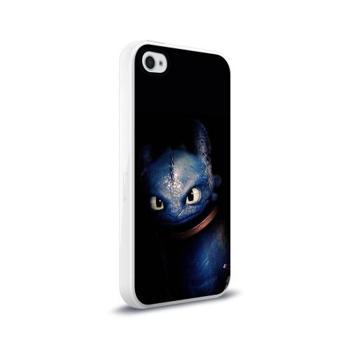 Чехол для Apple iPhone 4/4S силиконовый глянцевый как приручить дракона Фото 01