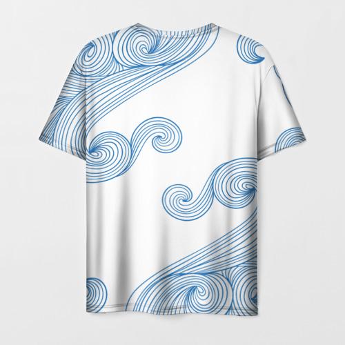 Мужская футболка 3D Кот Моряк Фото 01