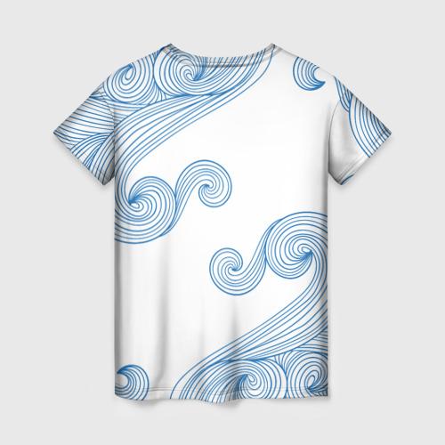 Женская футболка 3D Кот Моряк Фото 01