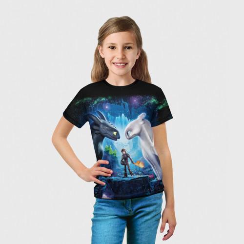 Детская футболка 3D как приручить дракона Фото 01