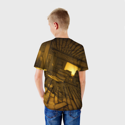 Детская футболка 3D  Фото 02, Bendy and the ink machine (33)