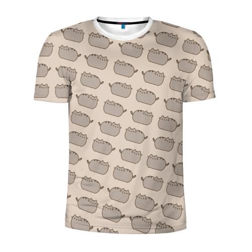 Мужская футболка 3D спортивная Pusheen Паттерн