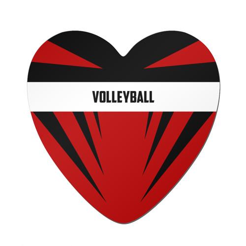 Магнит виниловый сердце  Фото 01, Volleyball