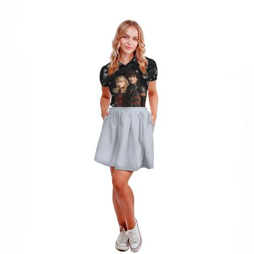 Женская рубашка поло 3D Викинг и Астрид Фото 01