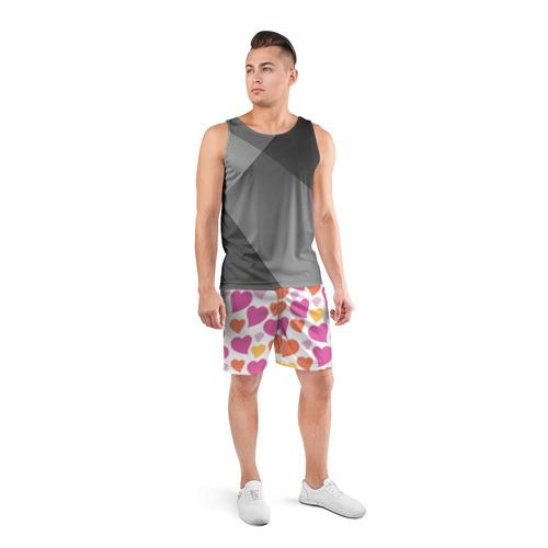 Мужские шорты 3D спортивные  Фото 04, Hearts