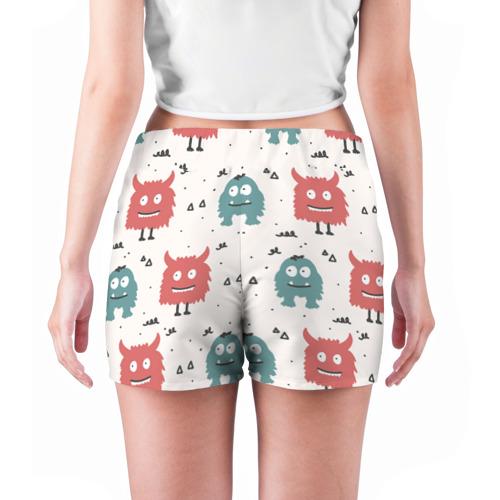 Женские шорты 3D  Фото 04, Монстры