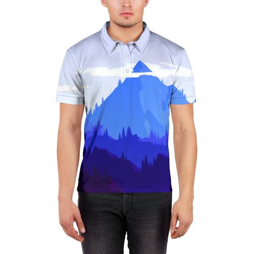 Мужская рубашка поло 3D  Фото 03, Firewatch