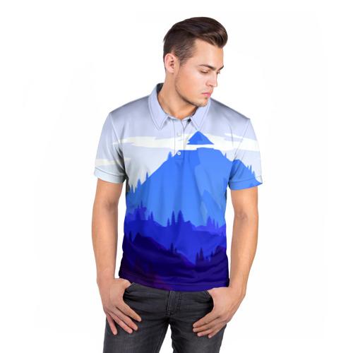 Мужская рубашка поло 3D  Фото 05, Firewatch