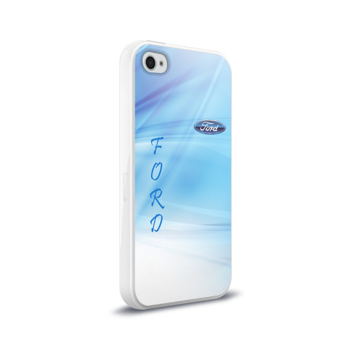 Чехол для Apple iPhone 4/4S силиконовый глянцевый FORD Фото 01