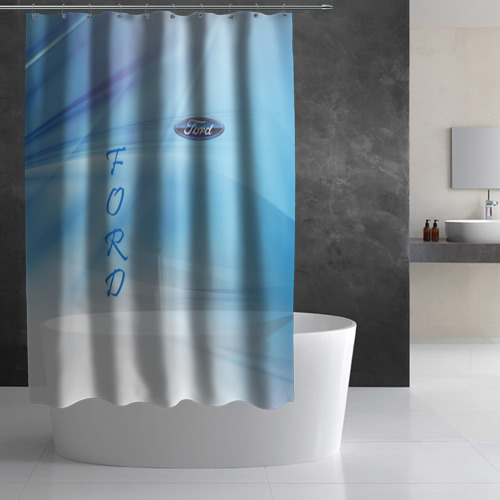 Штора 3D для ванной FORD Фото 01