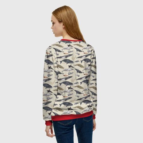 Женский свитшот 3D Whales pattern Фото 01