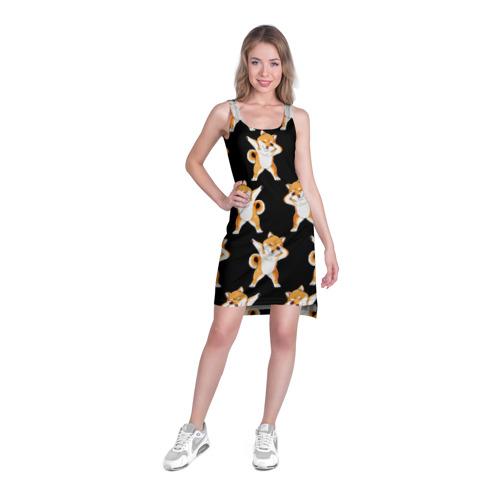 Платье-майка 3D Сиба-ину Dab Фото 01