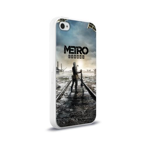 Чехол для Apple iPhone 4/4S силиконовый глянцевый METRO: Exodus Фото 01