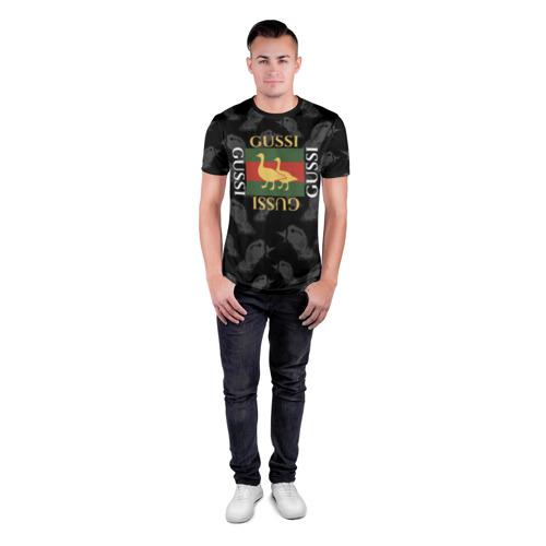 Мужская футболка 3D спортивная Гуси Фото 01