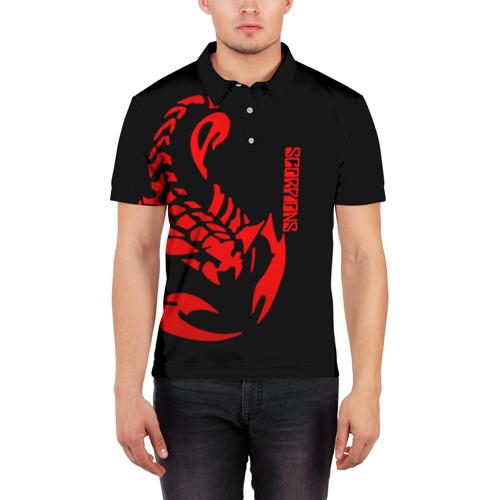 Мужская рубашка поло 3D  Фото 03, Scorpions