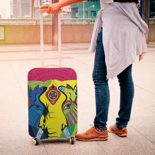 Чехол для чемодана 3D  Фото 04, Мама Индия. Ганеша