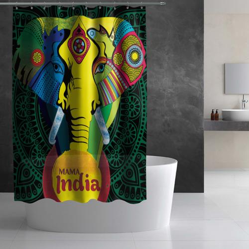 Штора 3D для ванной  Фото 03, Мама Индия