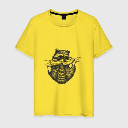 Мужская футболка хлопок Енот - повисун Фото 01