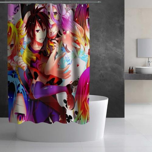 Штора 3D для ванной No Game No Life Фото 01