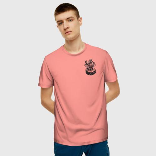 Мужская футболка 3D Парусник Фото 01