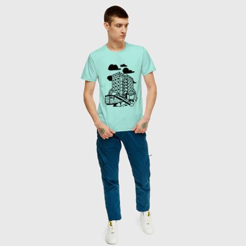 Мужская футболка хлопок Панельный дом Фото 01