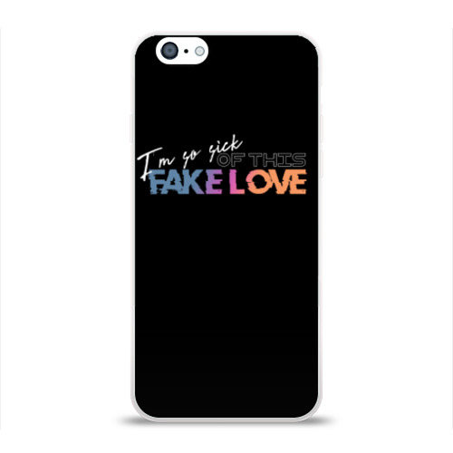 Чехол для Apple iPhone 6 силиконовый глянцевый  Фото 01, FAKE LOVE
