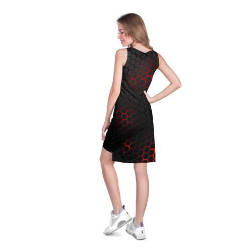 Платье-майка 3D СТАЛЬНАЯ БРОНЯ | STEEL ARMOUR | НЕОНОВАЯ БРОНЯ Фото 01
