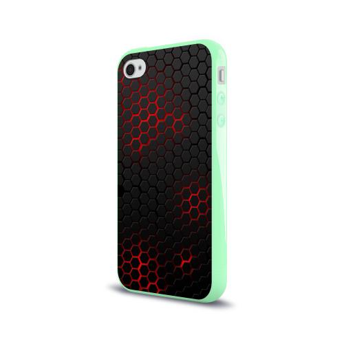 Чехол для Apple iPhone 4/4S силиконовый глянцевый СТАЛЬНАЯ БРОНЯ Фото 01