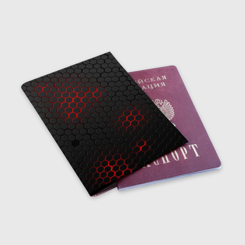 Обложка для паспорта матовая кожа СТАЛЬНАЯ БРОНЯ Фото 01