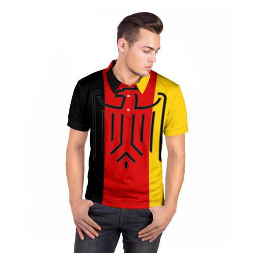 Мужская рубашка поло 3D  Фото 05, German eagle