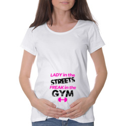 Lady in the streets freak in the gym