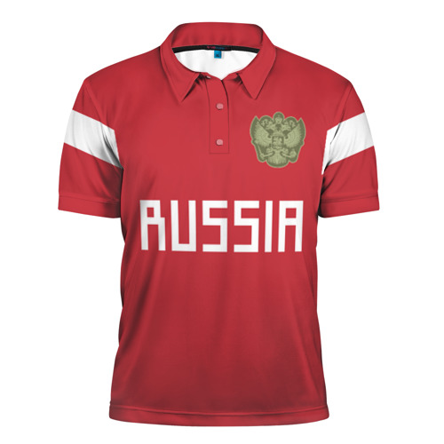 Мужская рубашка поло 3D Сборная России 2018