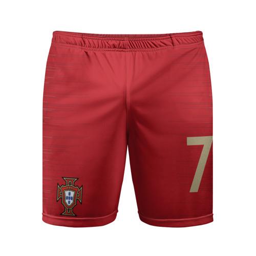 Мужские шорты 3D спортивные C.Ronaldo home WC 2018