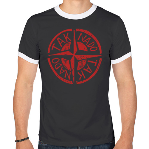Мужская футболка рингер Taknado Stone Island