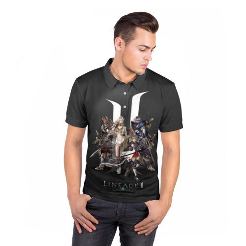 Мужская рубашка поло 3D LineAge 2 Revolution Фото 01
