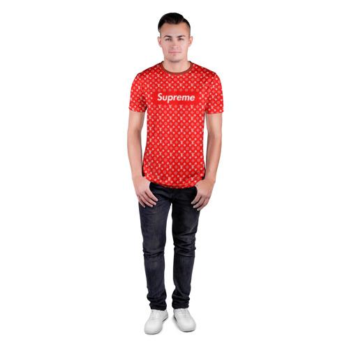 Мужская футболка 3D спортивная Supreme & Louis Vuitton Фото 01