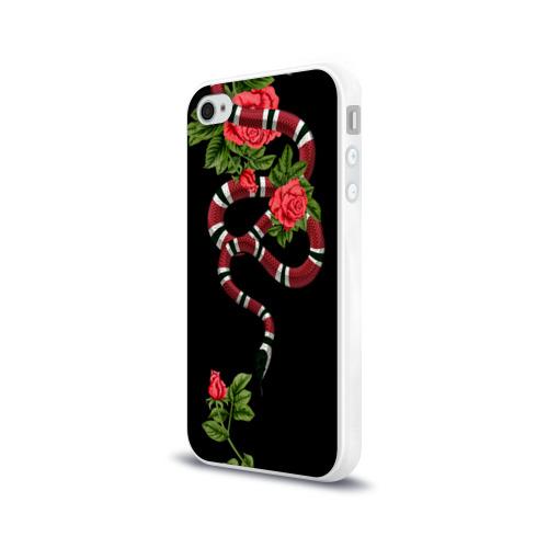 Чехол для Apple iPhone 4/4S силиконовый глянцевый GUCCI  Фото 01