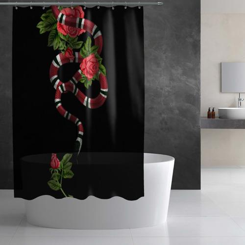 Штора 3D для ванной GUCCI  Фото 01