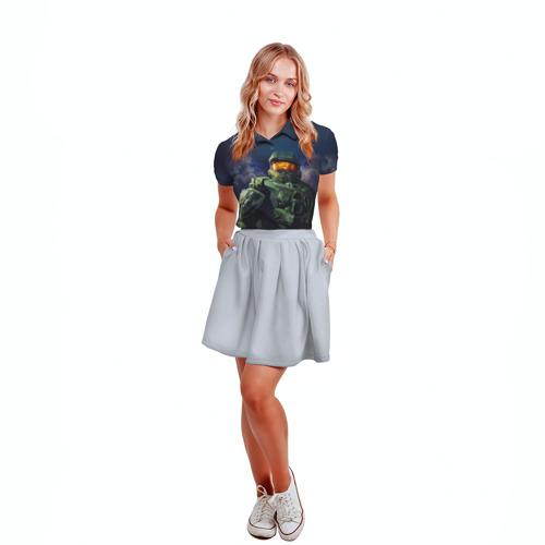 Женская рубашка поло 3D  Фото 04, Halo