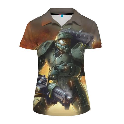 Женская рубашка поло 3D  Фото 01, Halo
