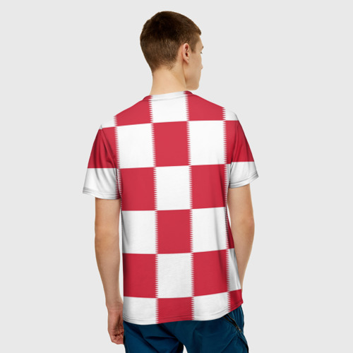 Мужская футболка 3D Форма Хорватии за  1025 рублей в интернет магазине Принт виды с разных сторон