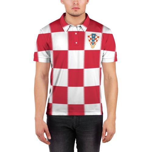 Мужская рубашка поло 3D  Фото 03, Форма Хорватии