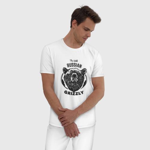Мужская пижама хлопок Русский Медведь Фото 01