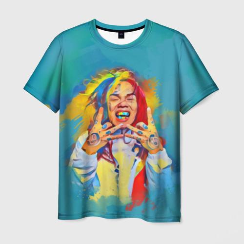 Мужская футболка 3D  Фото 01, 6IX9INE PAINTS