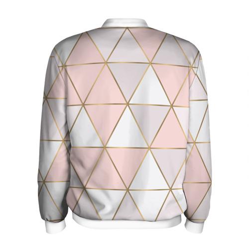 Мужской бомбер 3D  Фото 02, Розовые треугольники
