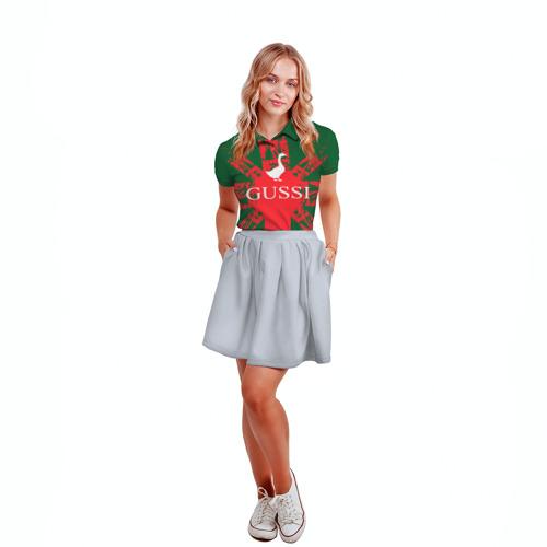 Женская рубашка поло 3D  Фото 04, GUSSI Union Jack