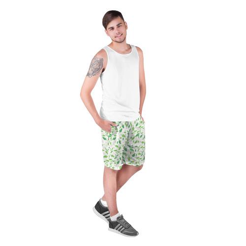 Мужские шорты 3D  Фото 03, Зеленые листья