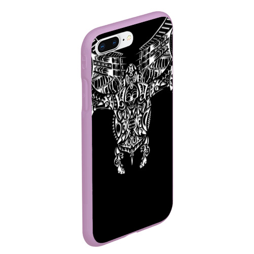Чехол для iPhone 7Plus/8 Plus матовый Узор в стиле маори / полинезия Фото 01